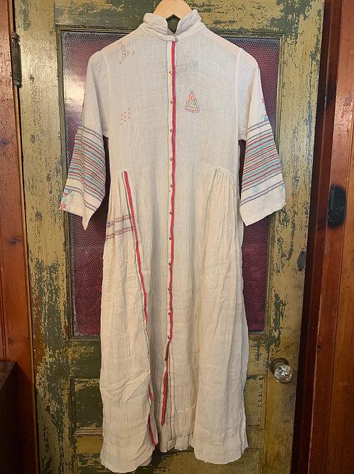 Injiri Cream Dress with Embellish
