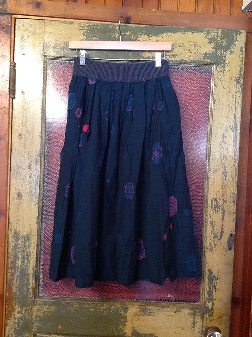 M. & KYOKO Woven Skirt in Blue