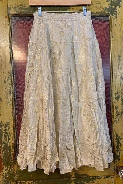 Ne Quittez Pas White/Gold Skirt