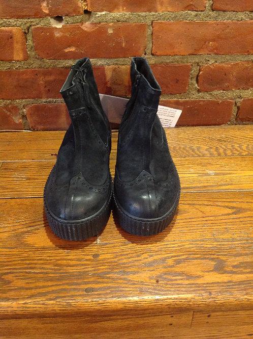 Rundholz Leather Suede Black Platform Boot