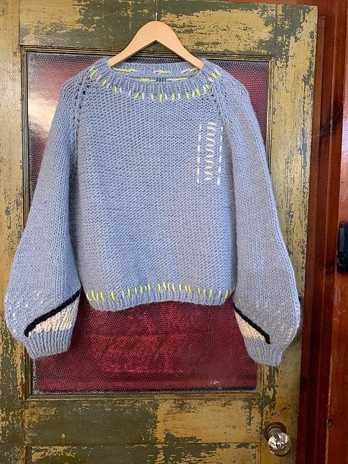 Of handmade Sonic Sweater in Sky