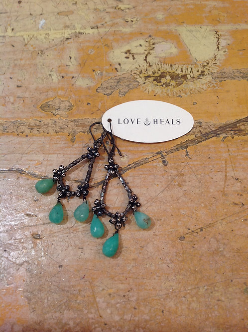 Love Heals Chrysoprase Earrings