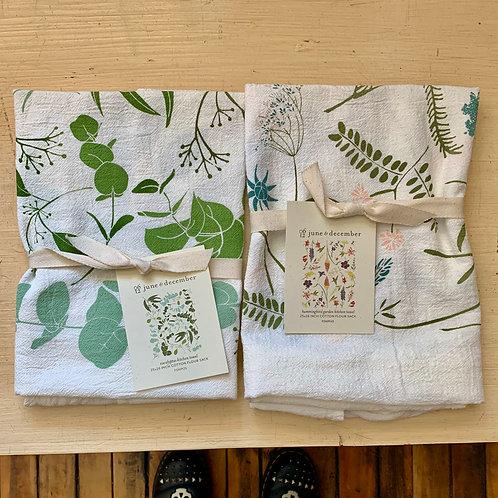 June and December Flour Sack Tea Towel