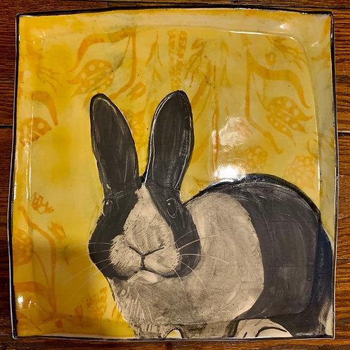 Hannah Niswonger Large Bunny Plate