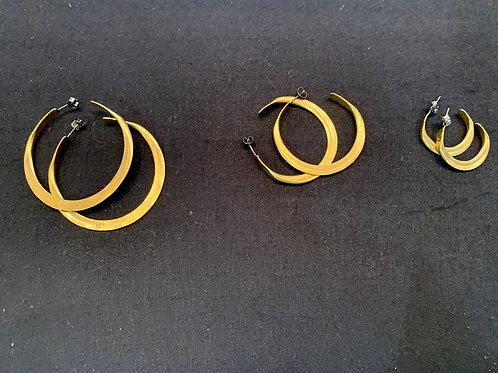 Claire Sommers Buck Brass Hoops