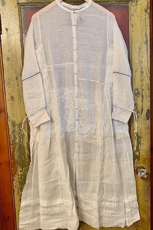 Injiri Dress/Jacket  - White on White Emb