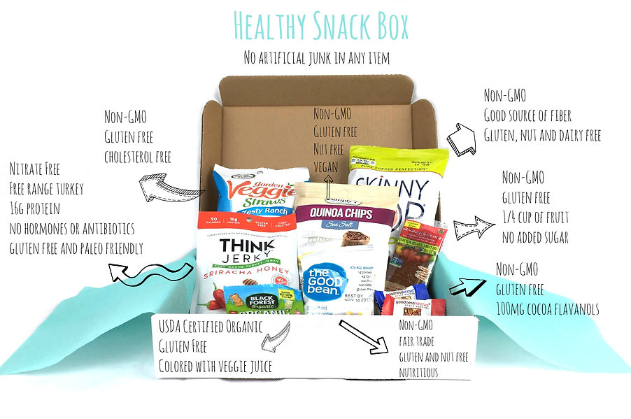 Healthy snack box products