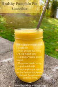 Healthy Pumpkin Pie Smoothie Recipes