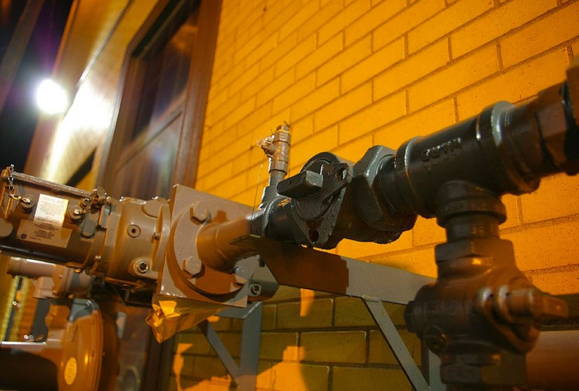 Natural Gas in our boiler to heat water from the 60º to 120º to get steam