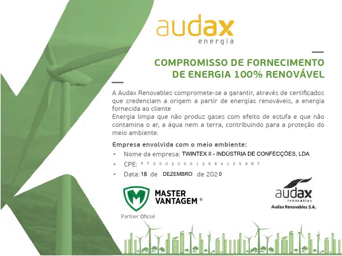 100% renewable energy supply