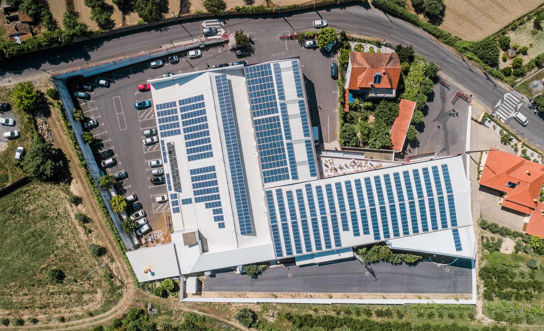 More than 1000 Photovoltaic Panels able to produce 75% of own energy.