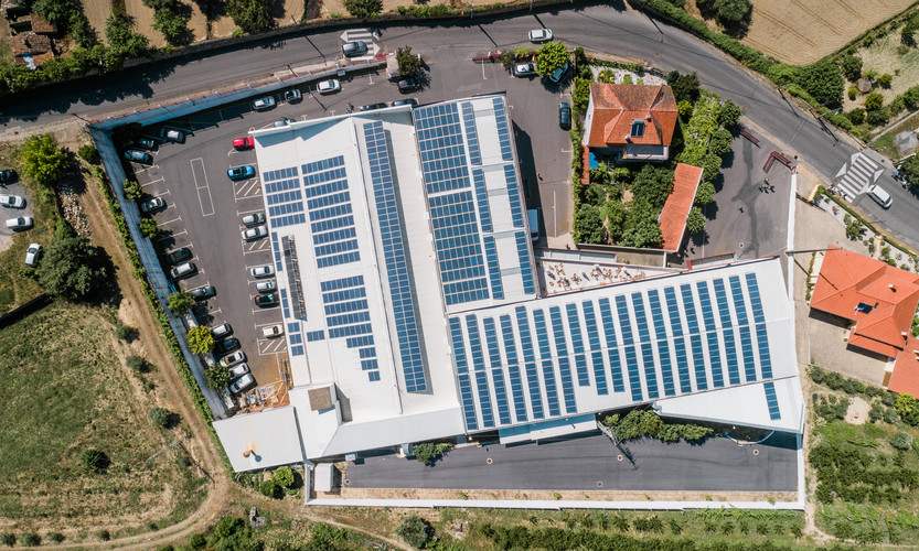 1000 Photovoltaic Panels able to produce 55% of own energy.