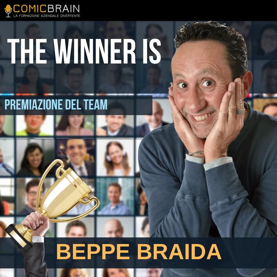 Intervento in streaming webinar - BEPPE BRAIDA THE WINNER IS