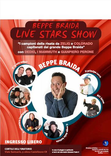BEPPE BRAIDA LIVE STARS SHOW spettacolo