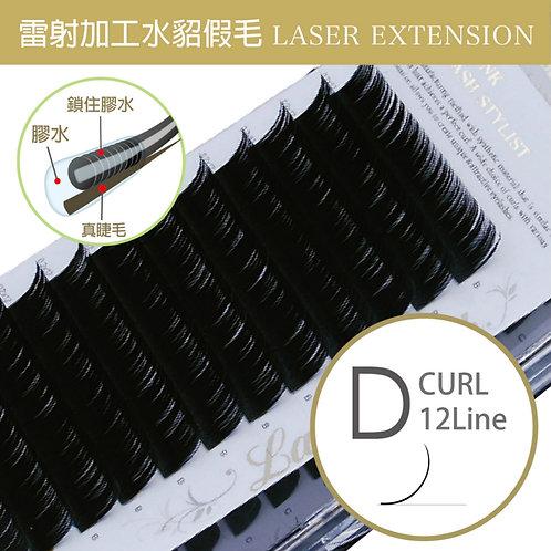 雷射加工水貂毛/D捲度 粗0.1mm
