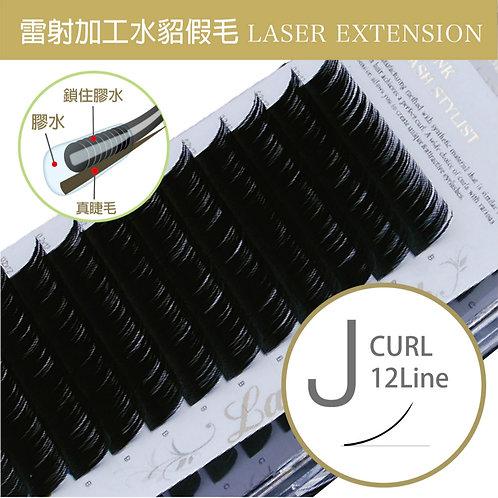 雷射加工水貂毛/J捲度 粗0.1mm