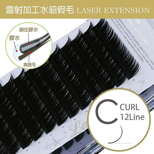 雷射加工水貂毛/C捲度 粗0.15mm