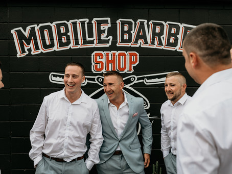 Grooms Party Prep Idea's Gold Coast Mobile Barber Shop Depot!