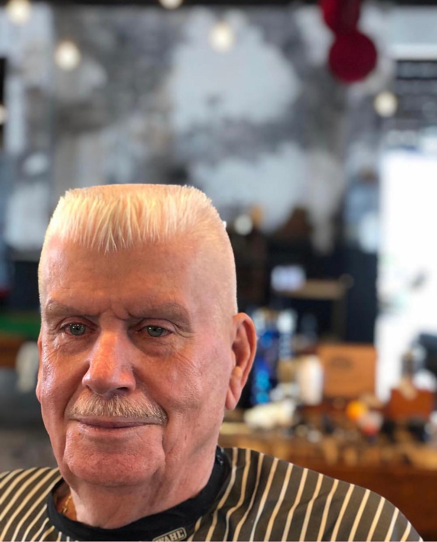 Men's flat top hair cut by Mobile Barber Shop Depot Gold Coast