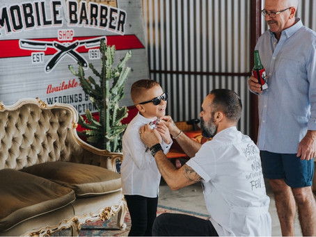 Groom's Party at the Barber Shop
