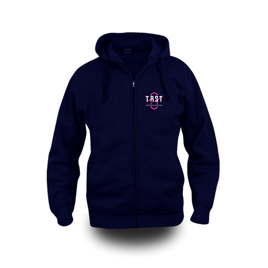 Mørk blå TØRST Hettejakke m/logo
