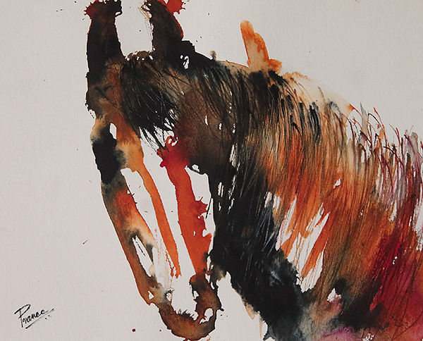 Expressionist painting of a horse