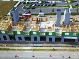 Drone video of Lofts on Louis