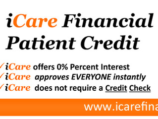 We now accept iCare Financial!!