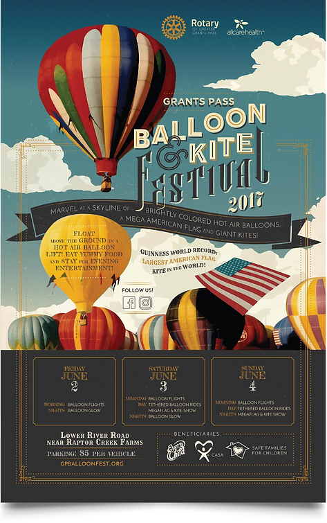 Grants Pass Balloon & Kite Festival Graphic Design