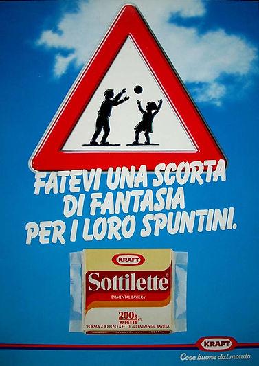 Campagna Sottilette Kraft manifesti