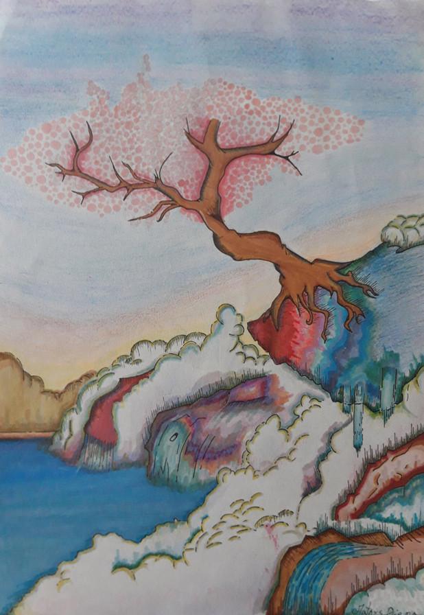 The Japanese cherry tree