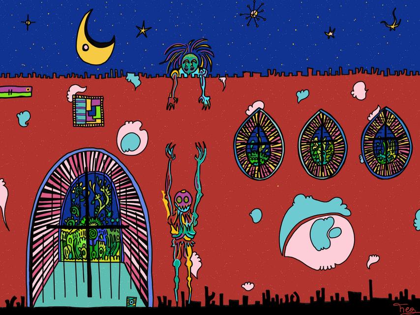 Fuyons sous la Lune