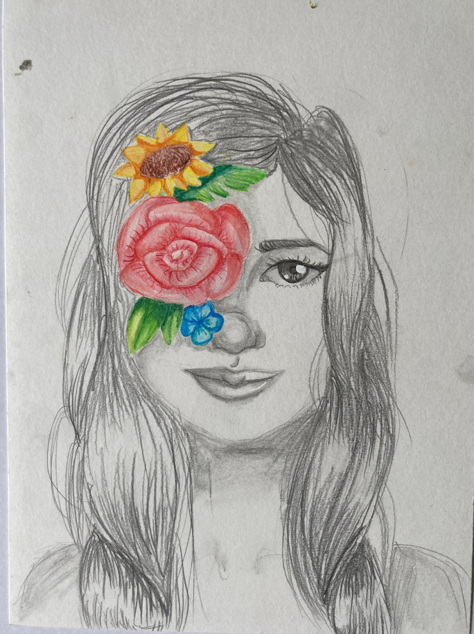 Crayon 1 - fleurs