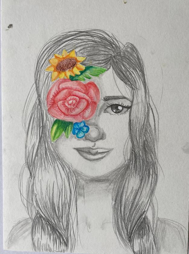 Pencil 1 - flowers