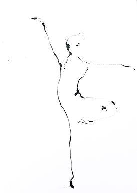 Patrice Palacio - dessin - danse - Galerie Nuance.