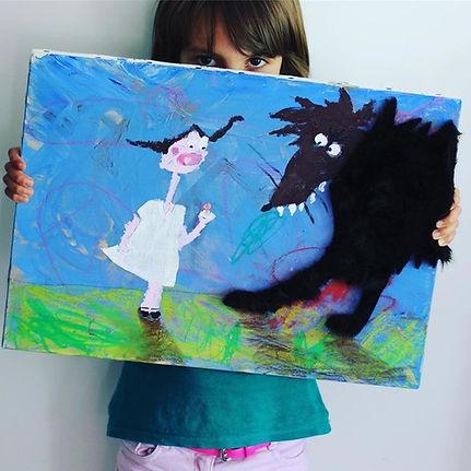"""Prix Artistes d'Avenir - Blacknwhiteart - """"Nina-et-sa-tétine"""", Lili, 5 ans"""