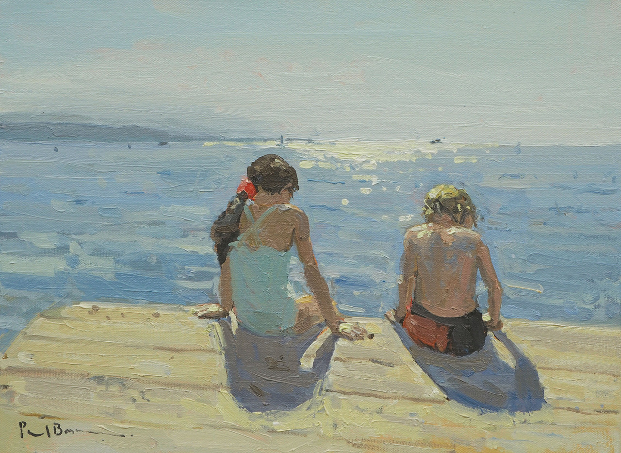"""No.23. Looking for fish 12""""x16"""" oil on canvas £1,950"""