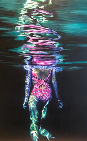 Night Swim, 76 x 60 cm, Acrylic on Canvas, £450