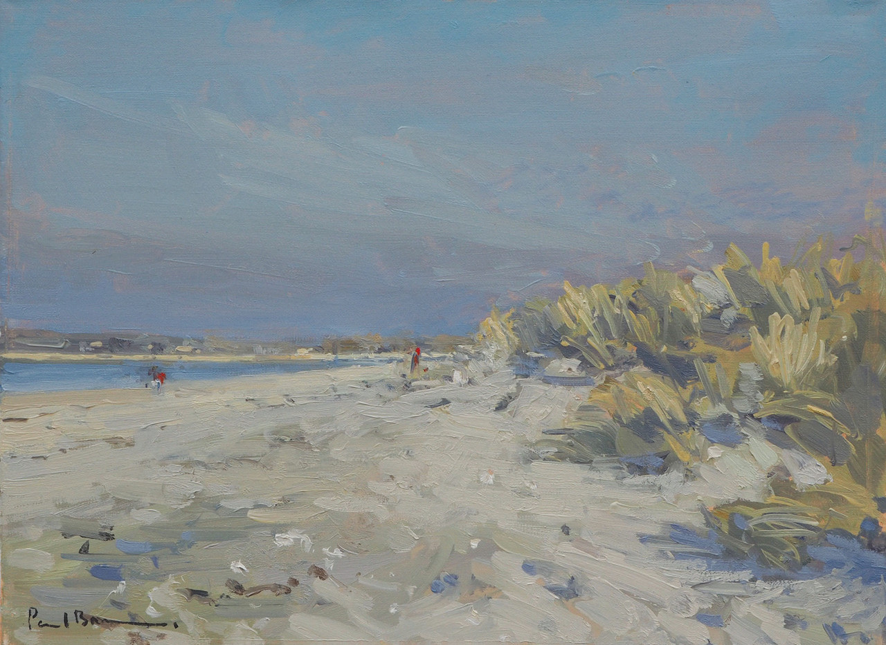 """No.27. Dunes, East Head. 12""""x16"""" oil on canvas £1,950"""