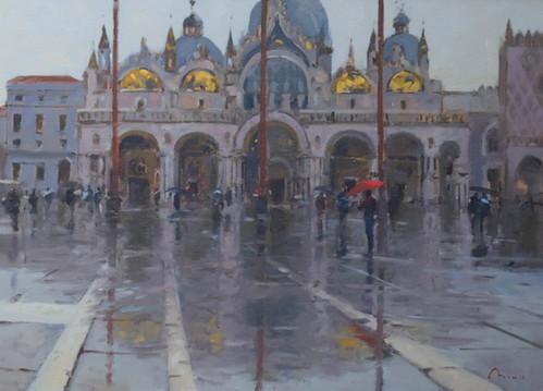 """Aqua Alta, Venice Oil, 20""""x28"""" £3,200"""