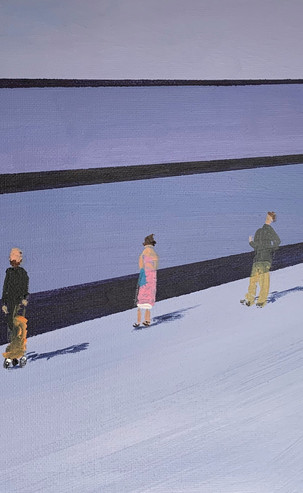 'Moving' Social Distancing 7, 42 x 52 cm, Acrylic on Canvas, £375