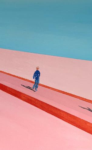 'Waiting' Social Distancing 2, 42 x 52 cm, Acrylic on Canvas, £375