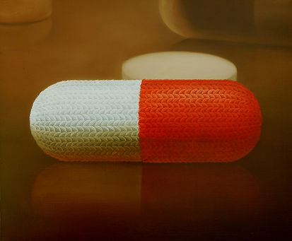 woolscape-healing capsule,  61×73㎝, oil