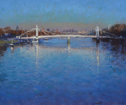"Albert Bridge, evening Oil, 20""x24"" £2,850"
