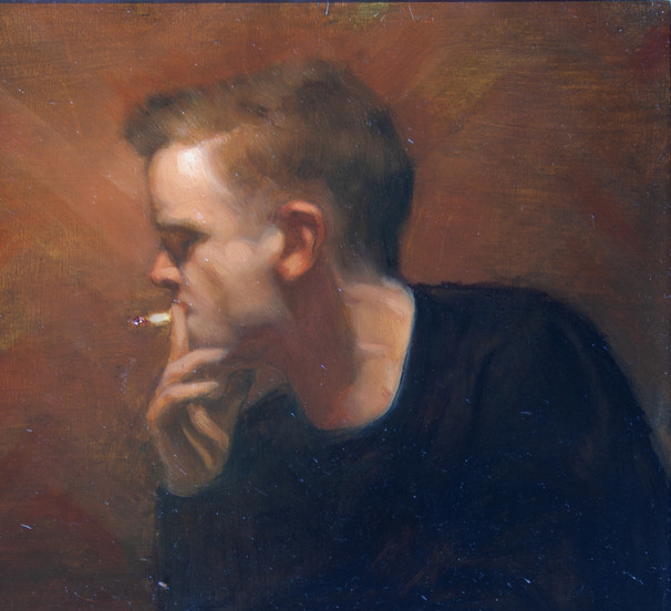 'Never Mind', 2017, Oil on Board, 60 x 3