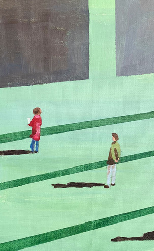'Isolating' Social Distancing 1, 42 x 52 cm, Acrylic on Canvas, £375