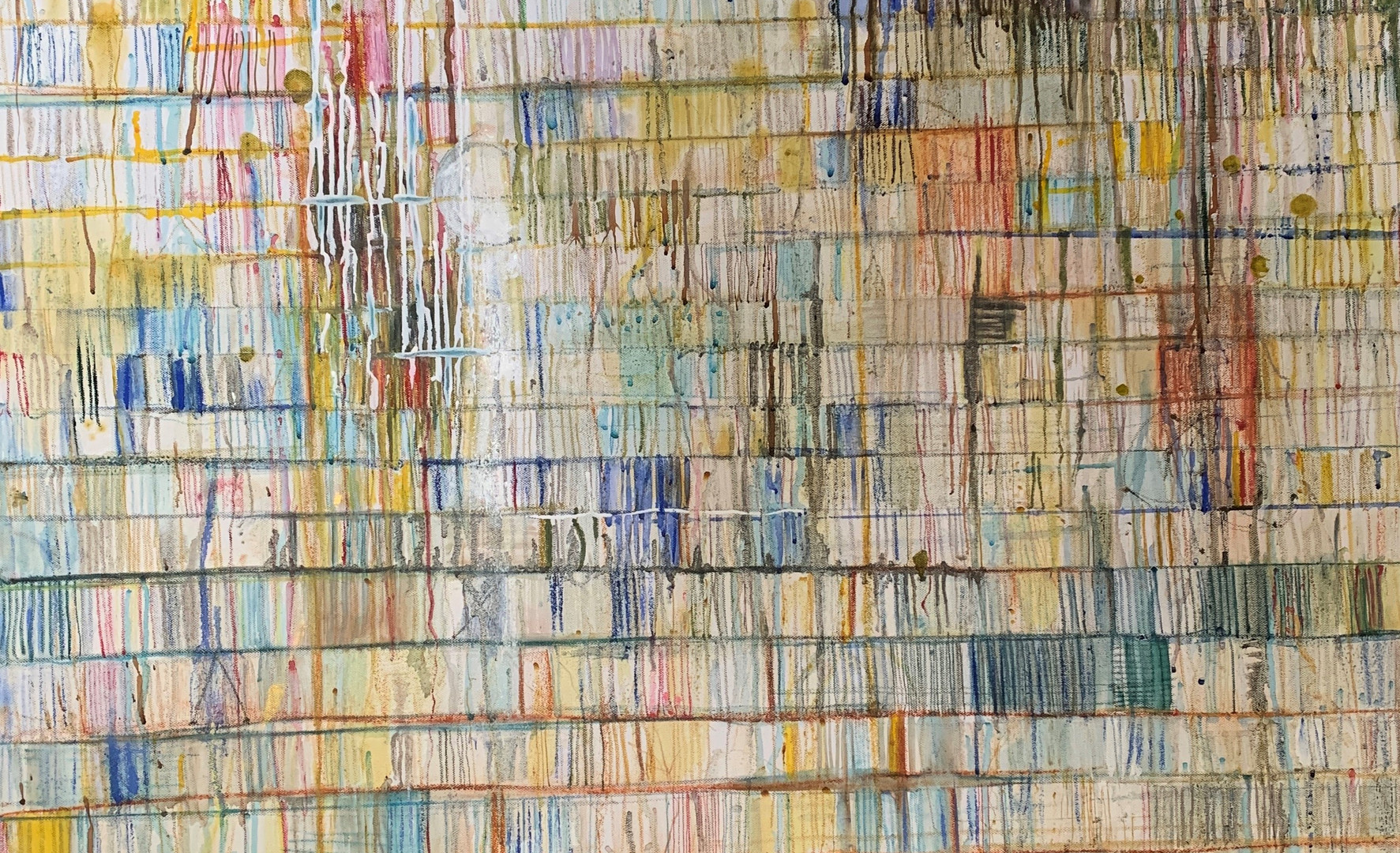 Lockdown 1, oil and other mediums on canvas, 1m x 1m, 2020, £895
