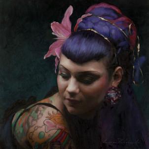 'Aima', 2018, Oil on Canvas, 30 x 30 cm.