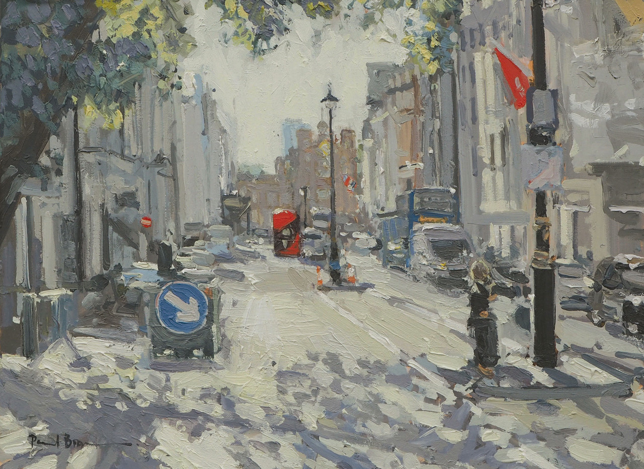"""No. 10. Towards St. James's Palace. 12""""x16"""" oil on canvas £1,950"""