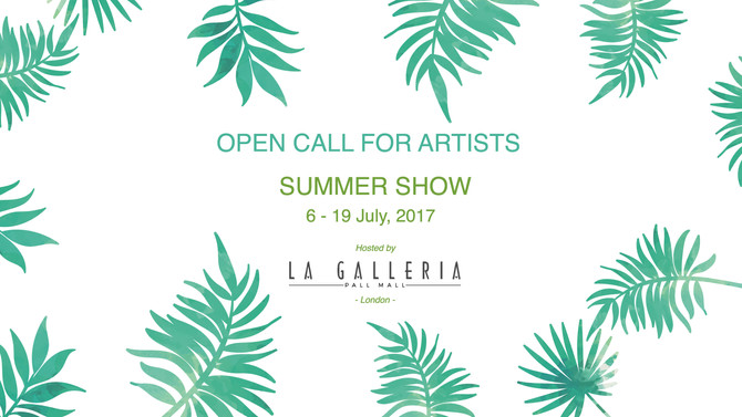 Participate in the new edition of the Summer Show at La Galleria Pall Mall